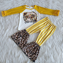 Outfits Clothing Shirt Pants Bell-Bottom Long-Sleeve Baby-Girls Kids Boutique Children