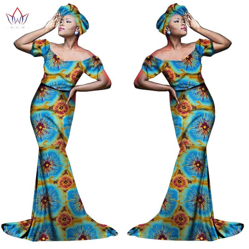 Африканский хлопчатобумажный материал Платья Для Женщин Дашики традиционная Анкара Мода Африка одежда с коротким рукавом Анкара платья WY963 - Цвет: 28