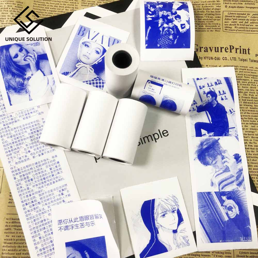 New Product For MEMOBIRD PAPERANG Display Blue Sticker Thermal Paper Sticker 57*30 Stickers Label Paper 2 Volumes To Send