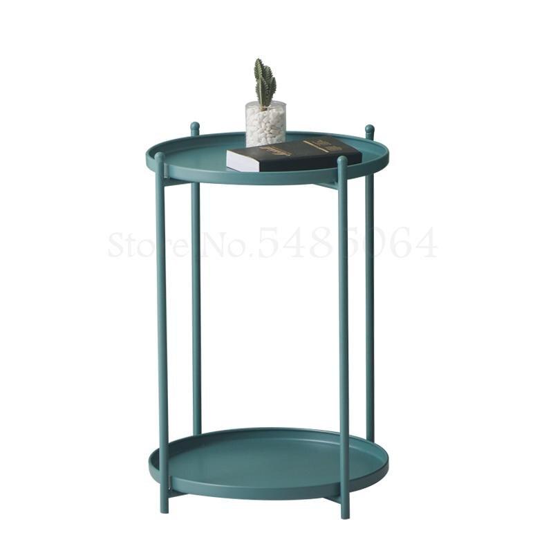 Ins Диванный угловой прикроватный столик для спальни круглый стол Маленький журнальный столик стойка для хранения мобильный простой