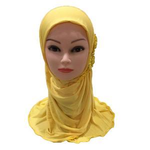 Image 4 - Hồi Giáo Trẻ Em Bé Gái Hijab Hồi Giáo Khăn Trùm Đầu Hoa Khăn Quàng Một Mảnh Amira Trẻ Em Cầu Nguyện Khăn Choàng Ramadan Full Bao Bọc Bao 2 7Y