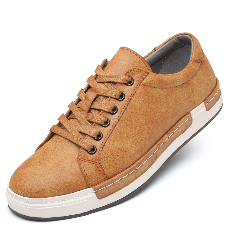 Men's Fashion Cow Suede Genuine Leather Sneakers Trend Hot Sale Comfortable Man Casual Shoes Outdoor Non-slip Breathable Shoes