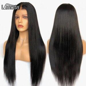 13x4 13x6 синтетические волосы прямые синтетические волосы на кружеве парики из натуральных волос на кружевной основе 360 парик шнурка 4x4 закрыт...