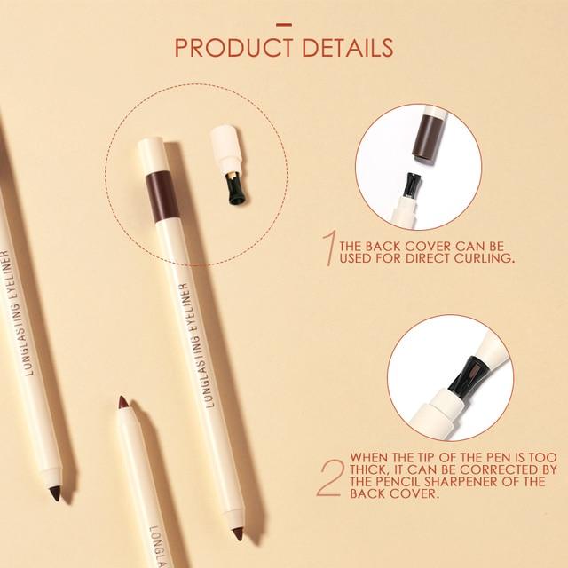 FOCALLURE Long-lasting Gel Eyeliner Pencil Waterproof Easy To Wear Black Liner Pen Eye Makeup Eye Liner 3