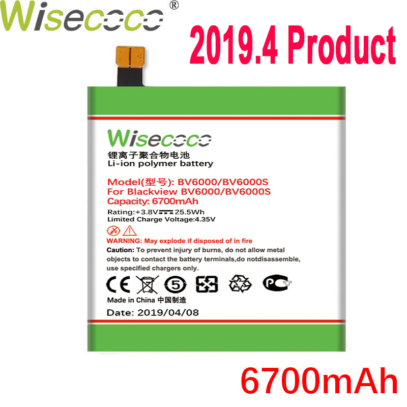 Wisecoco Battery For <font><b>Blackview</b></font> BV6000 BV6000S BV7000/BV7000 <font><b>PRO</b></font> <font><b>BV8000</b></font>/<font><b>BV8000</b></font> <font><b>PRO</b></font> Mobile Phone Latest Production+Tracking Number image