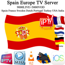 Spain Spanish iptv subscription m3u abonnement iptv caja France Germany Italy Portugal Android tv Box Enigma2 m3u Smart TV PC(China)