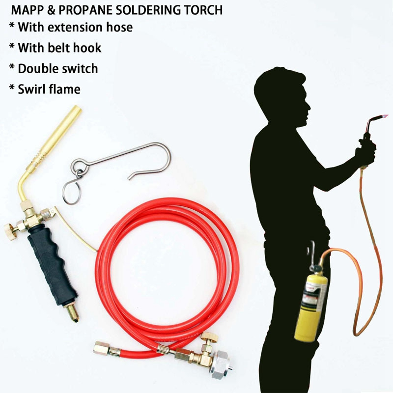 Soldering Hose MAPP 6M Welding Propane Torch Hose With 1 Brazing Torch