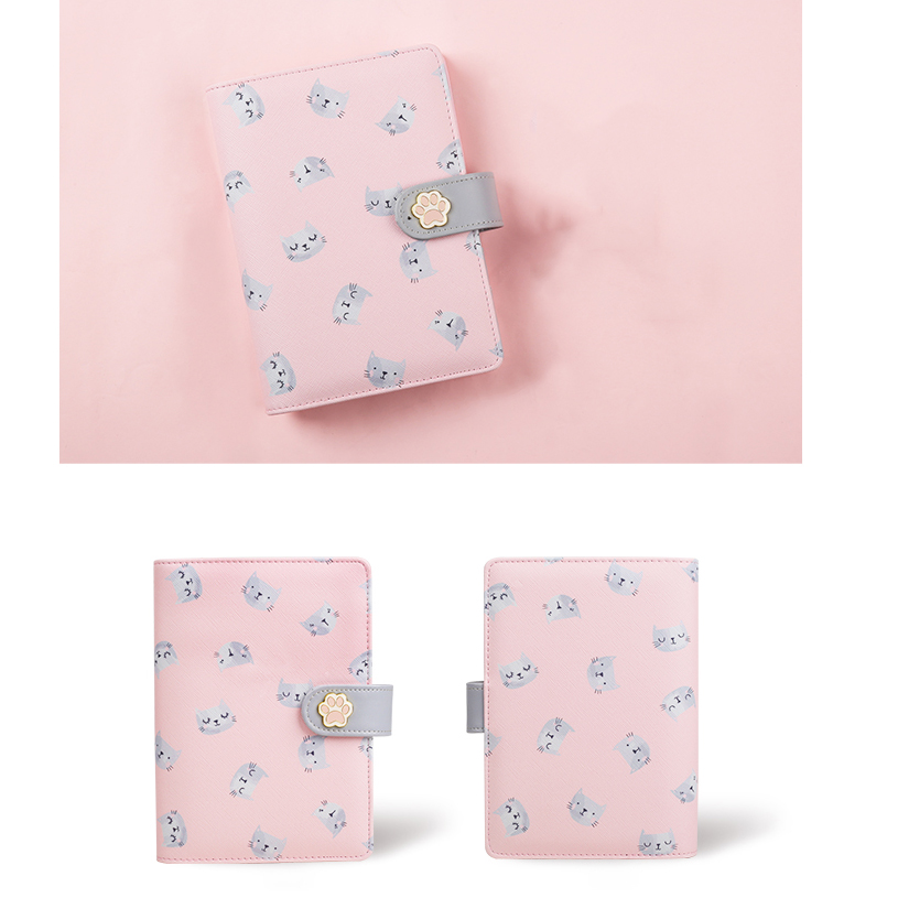 Never Cute Kitty Cat Spiral Notebook Korean Diary A6 Planner Organizer Grid Dotted Filler Paper Student Girls Gift Stationery