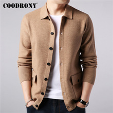 COODRONY Brand Sweater Men Streetwear Fashion Coat Autumn Winter Warm Cashmere Woolen Cardigan With Pocket 91104