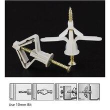 50 шт. плагин пластиковый анкерный болт с расширением трубы нейлон рычаг переключения с винтами гипсокартон стены