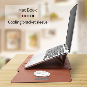 Image 4 - Torba na laptopa PU skórzany pokrowiec torba pokrowiec na Macbook Air Pro 13 15 torba na notebooka torba na Macbook air 11 12 13.3 15.4 cala