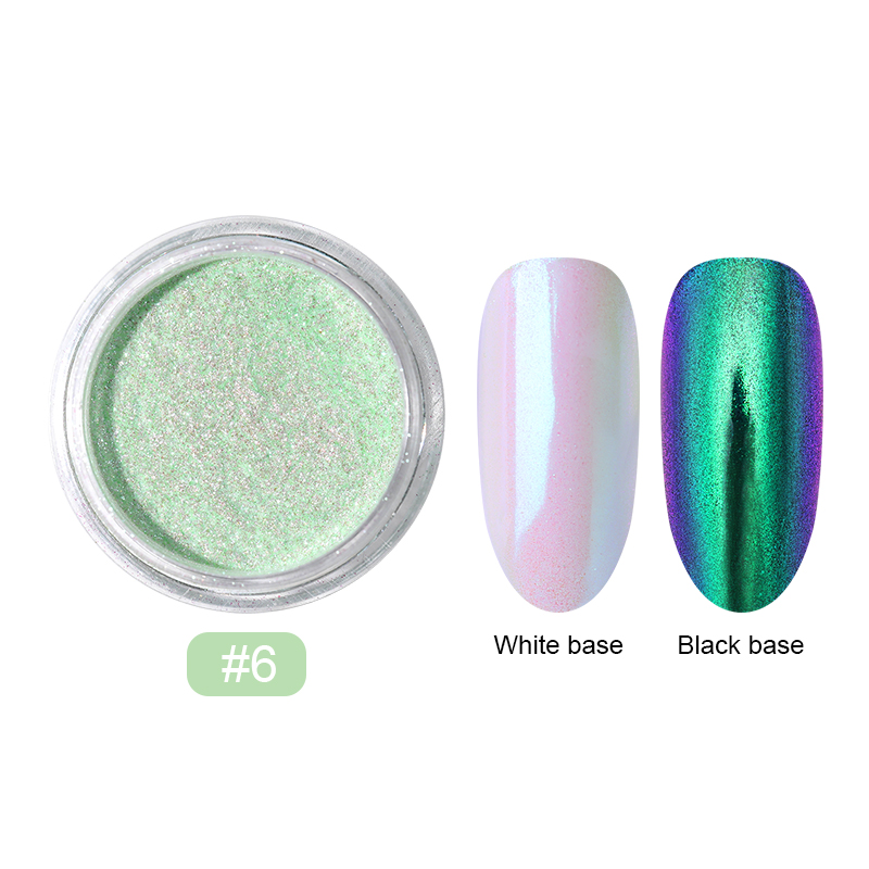 0,2 г/кор. зеркало-хамелеон, лазерные блестки для ногтей, порошки, эффект Auroras, дизайн ногтей, хромированный пигмент, пыль, сделай сам, дизайн, украшение - Цвет: 15