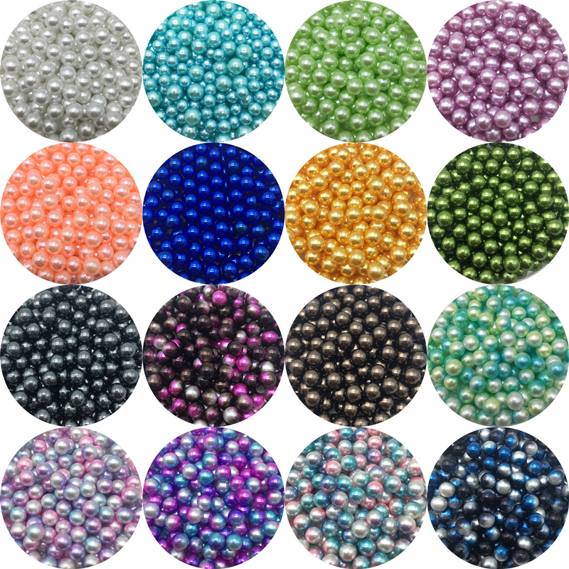 4/6/8/10mm No holes Acrylic Spacer Beads Imitation Pearls Round Loose Beads For Jewelry Making DIY Garment Pearls Beads(China)