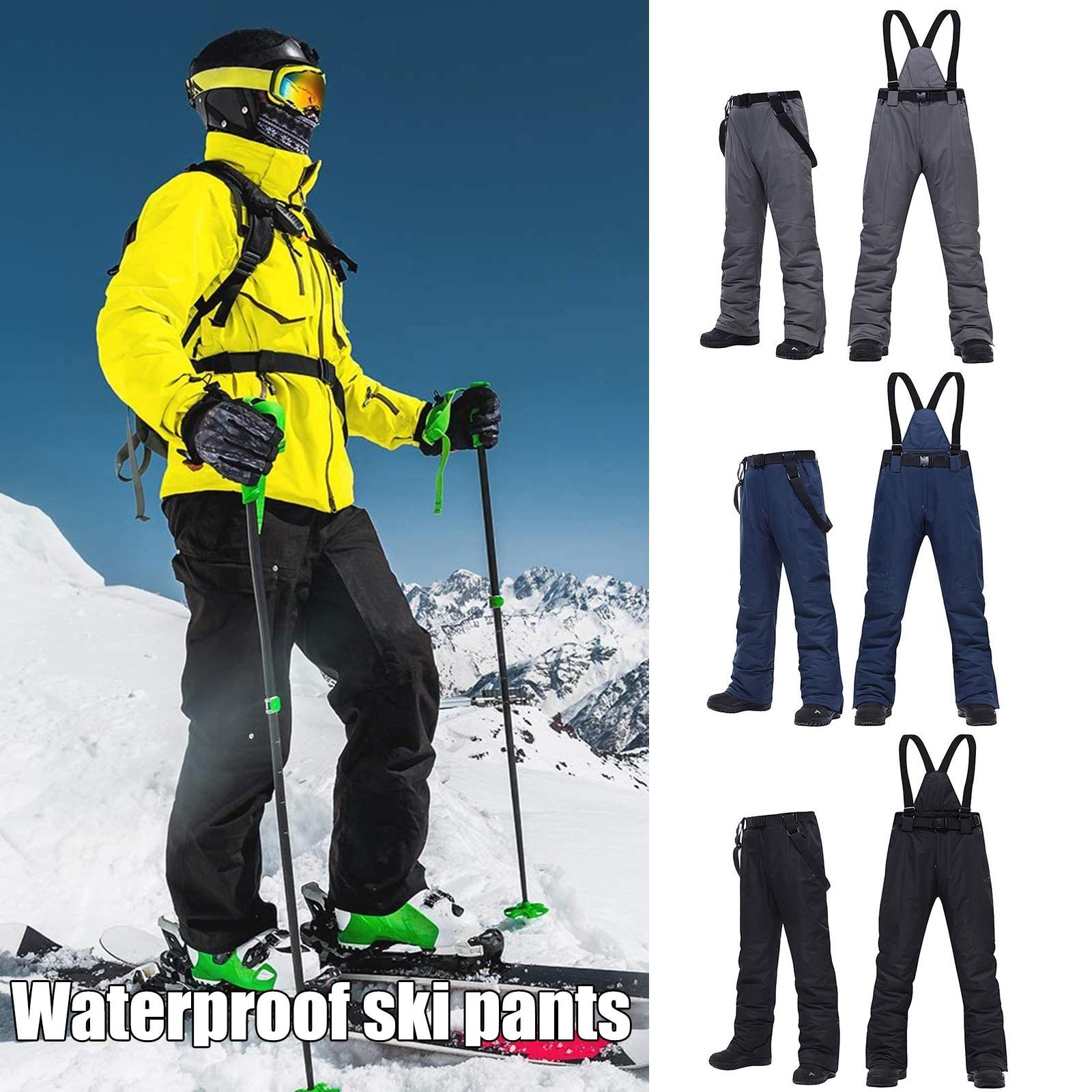 Women Men Ski Suspenders Pants Waterproof Insulated Snowboard Snow Pants Winter Outdoor Skiing Hiking Trekking Trousers 2021