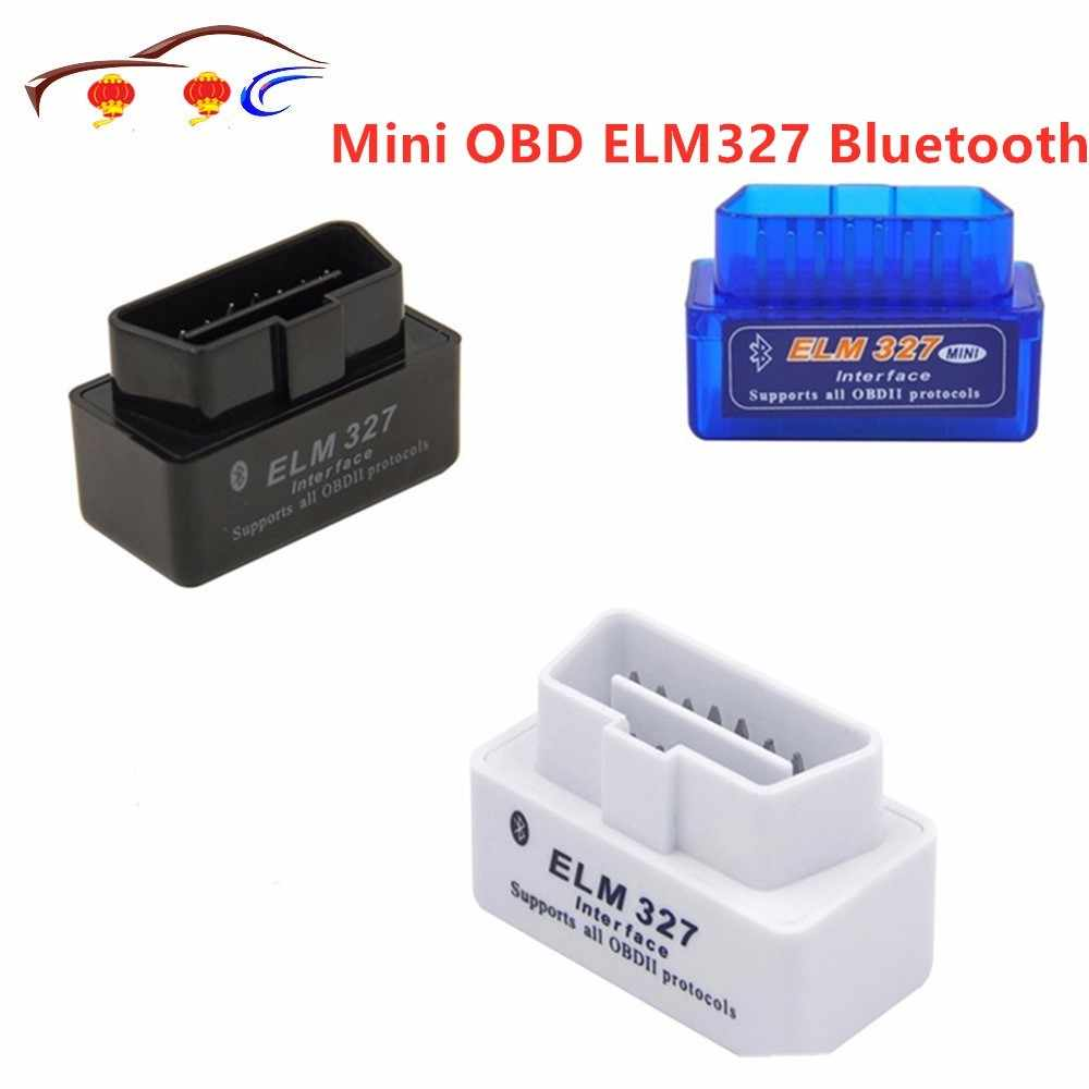 Mini OBD ELM327 Bluetooth OBD2 V2.1 Code de balayage automatique lire OBDII 2 voiture ELM 327 testeur outil de Diagnostic pour Android Windows Symbian