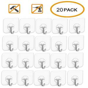 Self-Adhesive Hook Wall-Hanger Strong-Stick Bathroom Kitchen Transparent 10KG Seamless