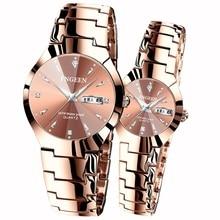 Couple Watches Zegarki Relojes Clock Quartz Waterproof Men's Woman for Para Mujer Damskie