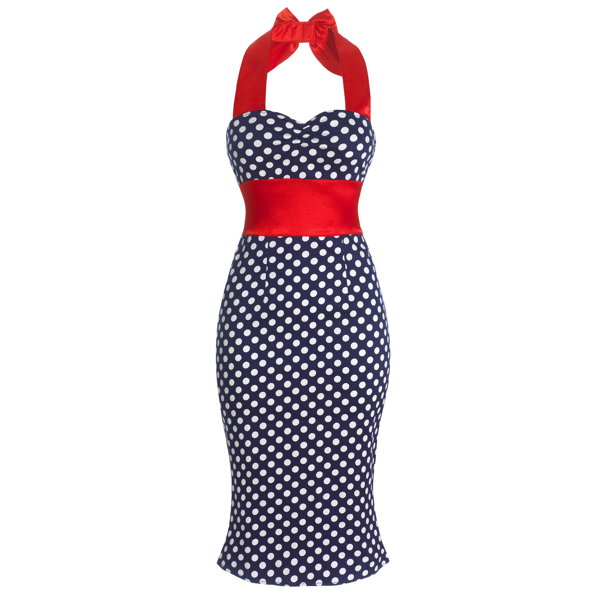 ROCKABILLY RETRO OFFICE PENCIL WIGGLE PIN UP DRESS