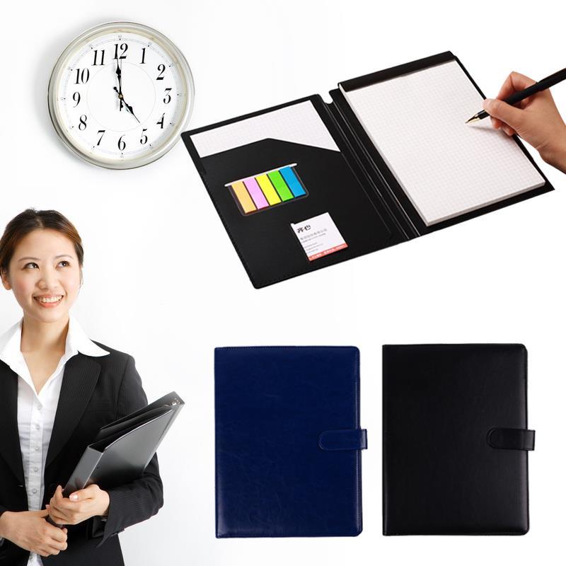 A4 Document Folder Multifunctional Universal PU Leather Manager Organizer A4 File Folder Display Bag Stationery A4 File Holder