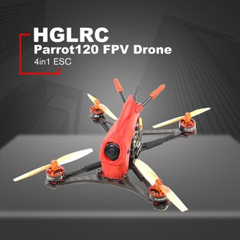 HGLRC Toothpick Parrot120 Micro RC FPV Racing Drone BNF XM+ F411 2-4S Flight Control 13A 4in1 ESC 1103 8000KV Motor - Red