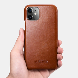 Image 5 - Original ICARER Genuine Leather Case For iPhone 11 Luxury Flip Cover Case For Apple iPhone 11 Curved Edge Vintage Folio Case