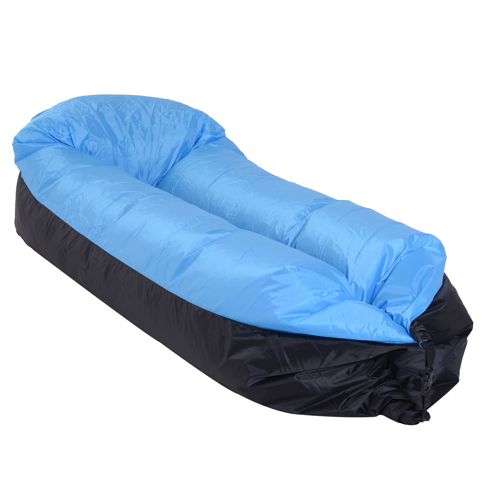 Outsunny Air Sofa Bed Inflatable Pump With Carrying Bag Max. 180 KG 185x70x52 Cm Blue