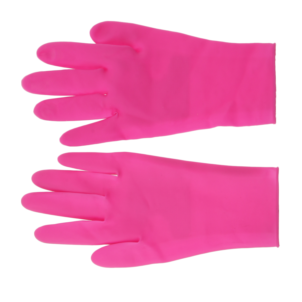 Pink Heatproof Silicone Gloves Hand Protector For Salon Kitchen Dish Washing