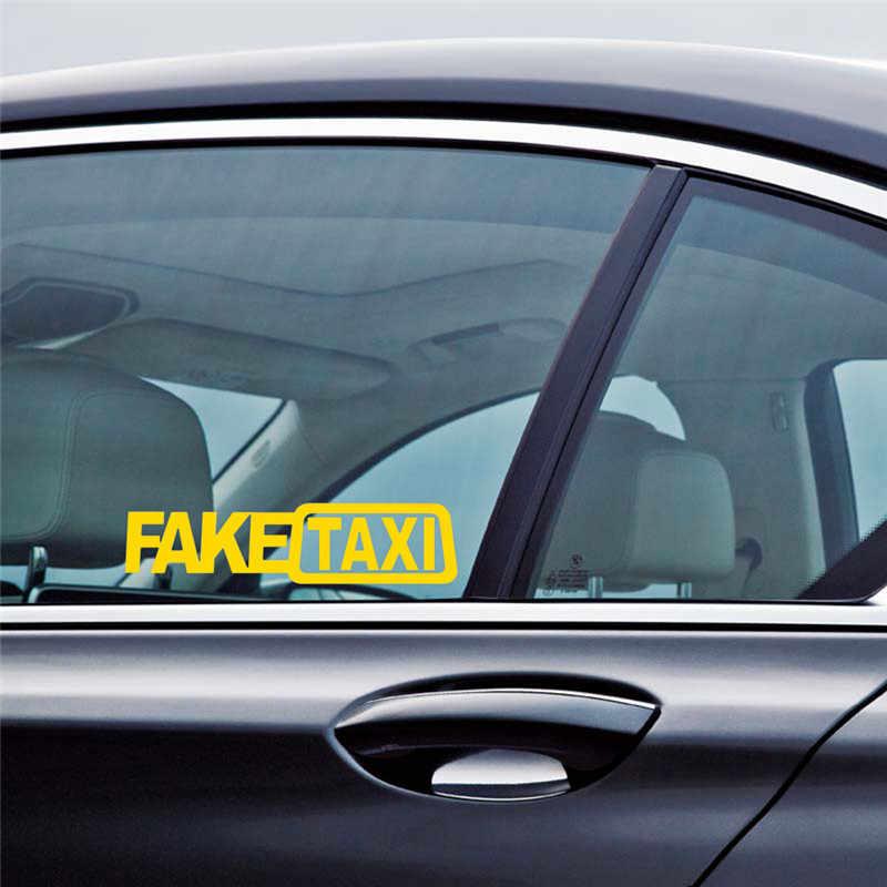 العالمي سيارة وهمية تاكسي مضحك ملصق مائي لشركة فيات 500 أوبل إنسيجنيا فيكترا c سوزوكي سويفت Sx4 هيونداي Ix35 كريتا نيسان