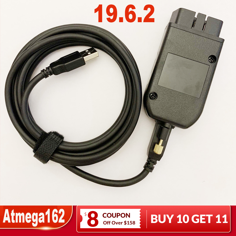 2019 Newest Car Diagnostic OBD2 Diagnostic Cable For Kline And CAN BUS Support Till 2019 19.6 English Polish German Atmega162