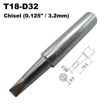 T18-D32 Soldering Tip Screwdriver 3.2mm 0.125 Fit HAKKO FX-888 FX-888D FX-8801 FX-600 Lead Free Iron Bit Nozzle Pencil Handle image