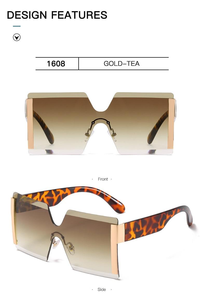 Luxury Brand Women's Sunglasses Square Sunglass Lady Designer 2021 trend Cool Vintage Retro Sun Glasses Rimless Shades For Women (9)