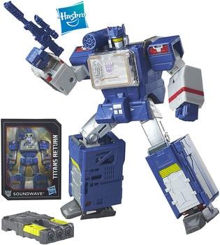 Hasbro Genuine Transformers Generations Titans Return 25cm Soundwave Titan Master Soundblaster Collectible Toy Model Figure 1