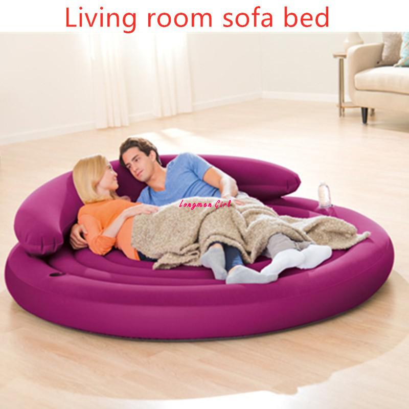 Multifunction Bedroom Living Room Big Sofa Outdoor Garden Furniture Folding Inflatable Sofa Bed For Travel Beach Lounger Chaise