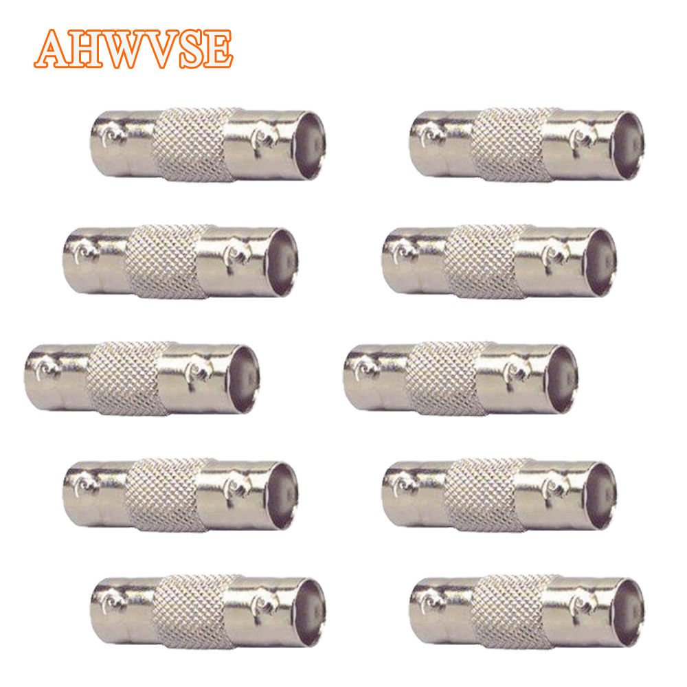 2pcs BNC Female To Female Inline Coupler Coax BNC Connector Extender For CCTV Camera AHD Camera Security Video Surveillance