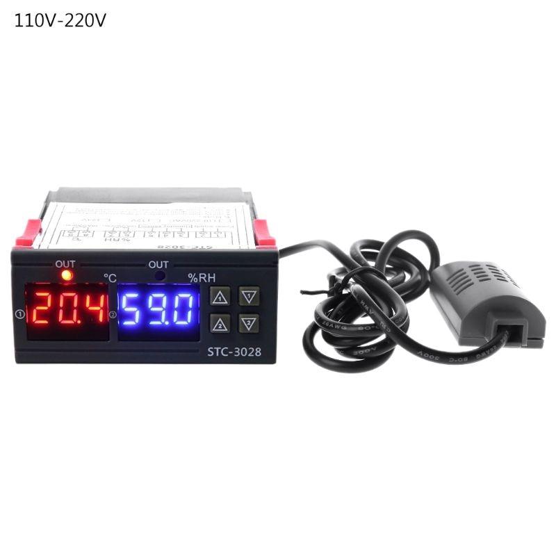Digital Thermostat Humidistat Humidity & Temperature Controller AC 110V 220V 10A