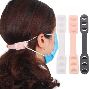 4 Pcs Adjustable Anti-slip Mask Ear Grips Fixing Buckle High Quality Extension Hook Face Masks Buckle Holder Accessories 10*3 cm
