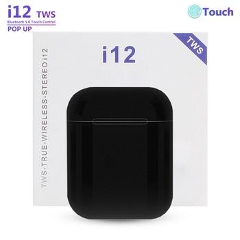 Original i12 Tws Bluetooth Earphone Wireless Earbuds Sports Handsfree Earphones Mini Headset with Charging Box for iPhone Xiaomi