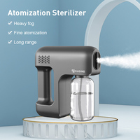 Máquina de atomización de mano inalámbrica portátil, máquina de desinfección, niebla, luz azul, pistola de espray, desinfecti