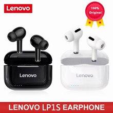 Lenovo lp1s tws sem fio fone de ouvido bluetooth versão atualizada 5.0 controle de toque estéreo duplo 300mah novo fffffone de ouvido