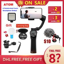 Snoppa atom 3-Achse Handheld Gimbal Faltbare Tasche-Größe Stabilisator für iPhone X huawei p30 Gopro hero 7 PK DJI OSMO om4 Mobile