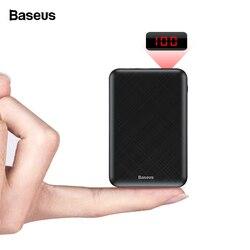 Baseus 10000 mah mi ni banco de potência portátil usb tipo c carregador rápido pequeno 10000 mah powerbank para iphone xiao mi bateria externa