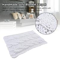 Handmade Sofa Blanket Knitted Thick Large Pet Bed Mat Rug for Living Room