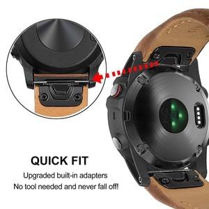 Image 3 - Quick Fit หนัง 26 มม.สำหรับ Garmin Fenix 6X/6X Pro/5X/5X PLUS/3 HR/Descent MK1/Quatix 3 สายนาฬิกา