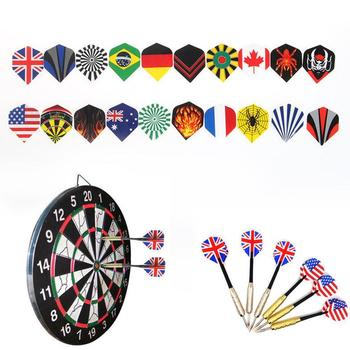 60 Cool Standard Dart Flights Nice Darts Flight Dardos Outdoor Mixed Wing Tail Feather Pattern F4Z1 image
