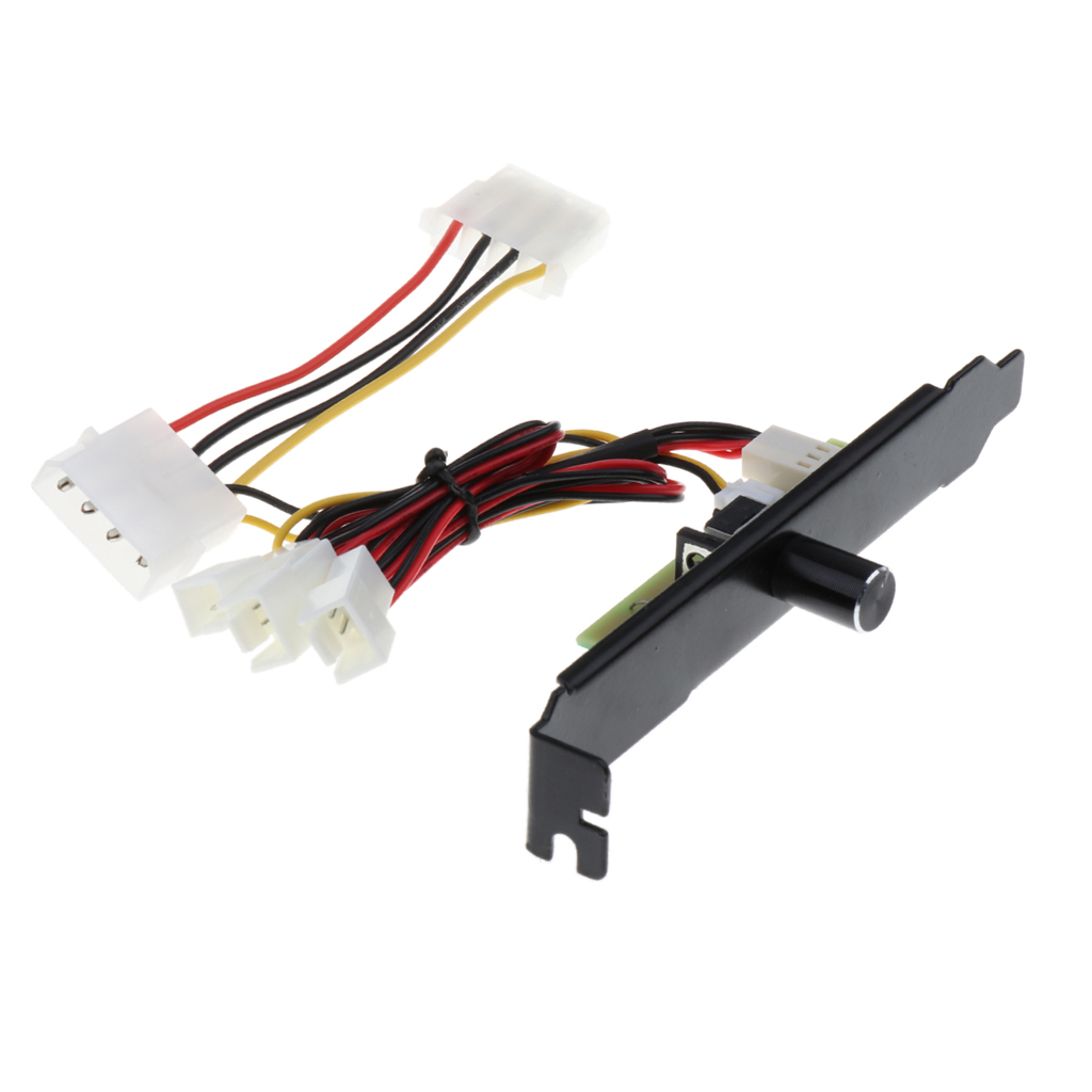 4 Channels 4pin PC Cooler Cooling Fan Speed Controller PCI Bracket 12V Power PCI Back Slot Bracket