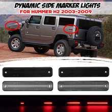 2/4 adet LED dinamik yan işaretleyici işık ön ve arka dönüş sinyal ışığı lamba göstergesi yan tekrarlayıcı Hummer h2 2003-2009