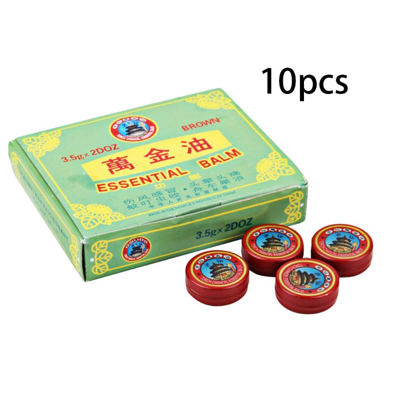 10 Pcs/set Multifunction Summer Cooling Oil Refreshing Head Balsam Expelling Mosquitoes Cream Ointment