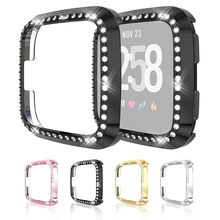Horloge Case Cover Ultra-Slim Luxe Crystal Screen Protector Cover Protector Voor Fitbit versa/Lite Bescherming Case Cover FW2(China)
