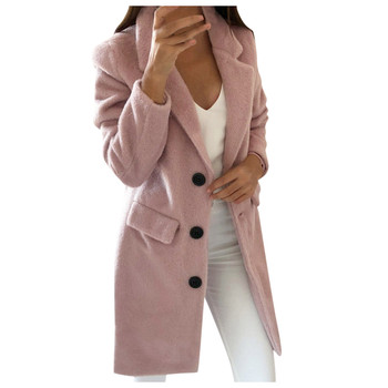 Woman Long Wool Coat Elegant Blend Coats Slim  Female Long Coat Outerwear Jacket Dropshipping size Leisure Work clothes  free sh 4