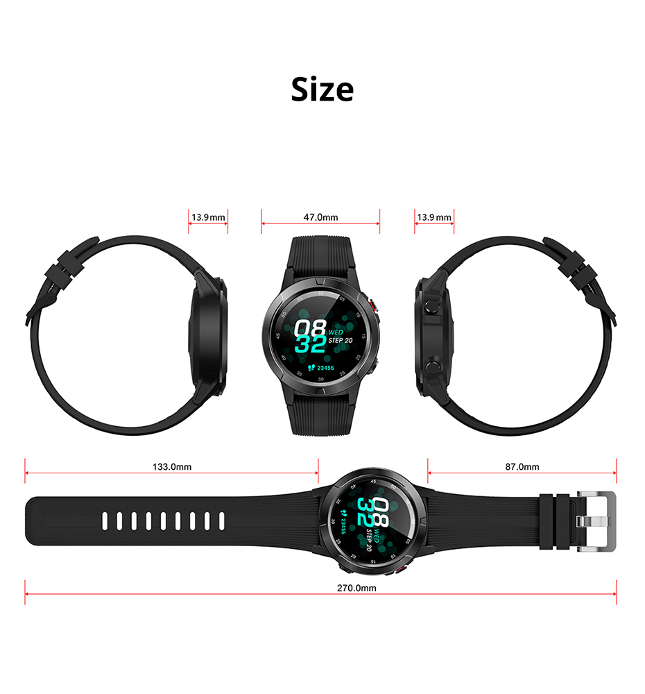 Makibes G58 Smart watch Compass Multi-language GPS Men Sport Heart Rate Monitor Call Message Reminder Activity Fitness trackerG58_15